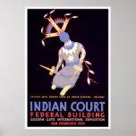 Apache Devil Dancer 1939 WPA Poster