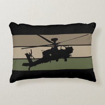 Apache Helicopter Accent Pillow