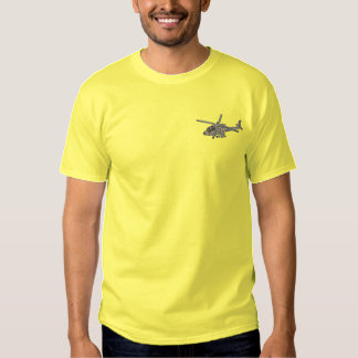 Apache Helicopter Embroidered T-Shirt