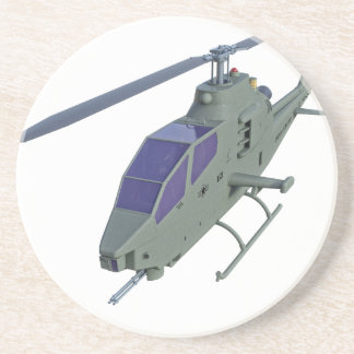 Apache helicopter in front view drink coaster