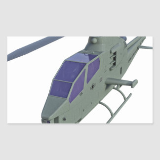 Apache helicopter in front view rectangular sticker