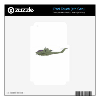 Apache helicopter in side view profile iPod touch 4G decal