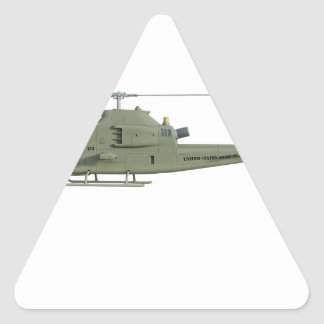 Apache helicopter in side view profile triangle sticker