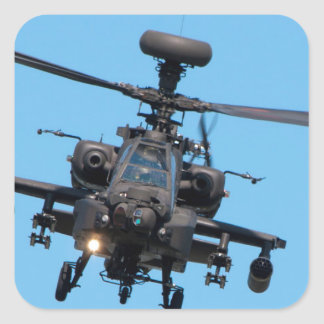 Apache Helicopter Square Sticker
