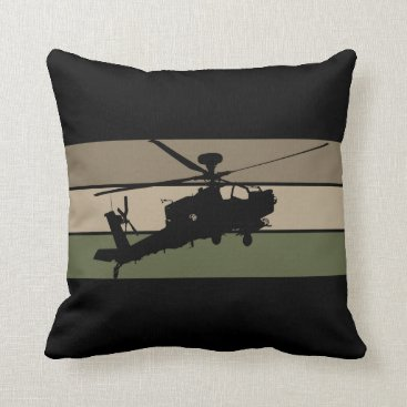 Apache Helicopter Throw Pillow