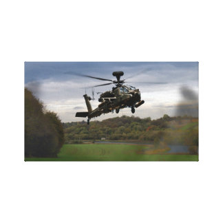 Apache In The Field Stretched Canvas Prints