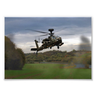 Apache In The Field Photo Art