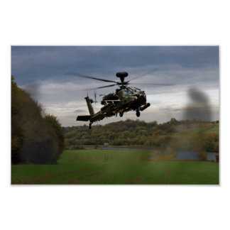 Apache In The Field Posters