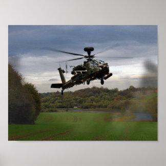 Apache In The Field Print