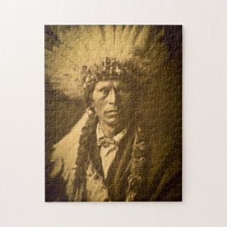 Apache Indian Chief Garfield Jicarilla Vintage Puzzle