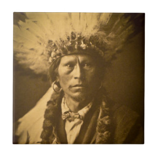 Apache Indian Chief Garfield Jicarilla Vintage Tile