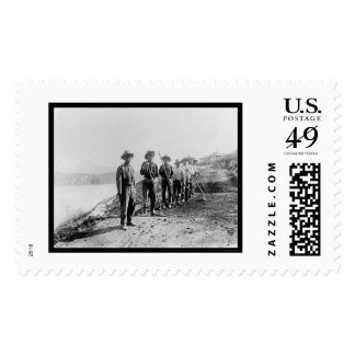 Apache Indian Laborers at the Salt River 1922 Postage Stamps