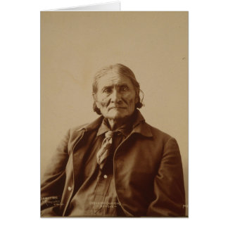 Apache Indian Leader Geronimo by Adolph F. Muhr Cards