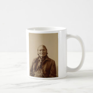 Apache Indian Leader Geronimo by Adolph F. Muhr Mugs