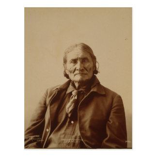 Apache Indian Leader Geronimo by Adolph F. Muhr Post Card