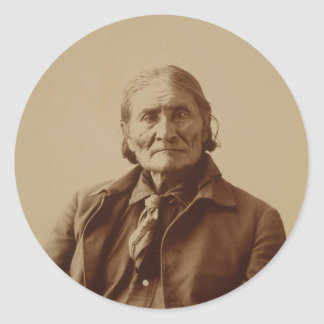 Apache Indian Leader Geronimo by Adolph F. Muhr Stickers