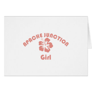 Apache Junction Pink Girl Greeting Cards