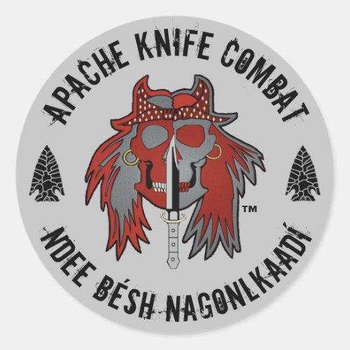 Apache Knifeâ Apache Knife patch Classic Round Sticker