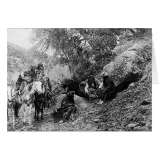 Apache Men 1906 Greeting Card