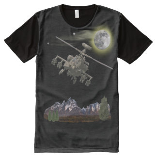 Apache military helicopter All-Over-Print shirt