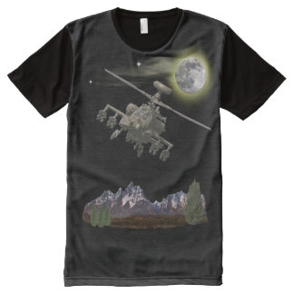 Apache military helicopter All-Over-Print T-Shirt