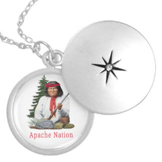 Apache Nation Silver Plated Necklace