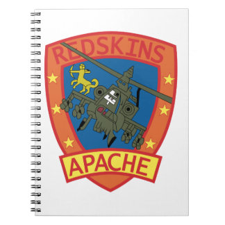 APACHE Redskins Sq - Helicopter - Patches Note Books
