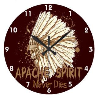 apache spirt skull headress clock