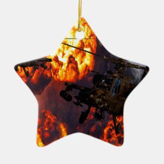 Apache Storm Fire Ceramic Ornament