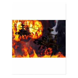 Apache Storm Fire Postcard