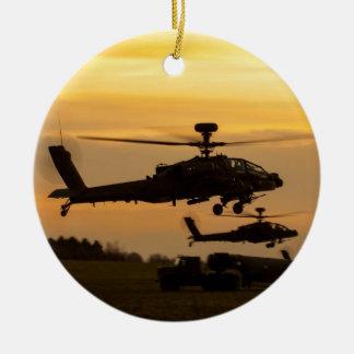 Apache sunset ceramic ornament