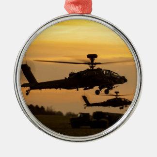 Apache sunset metal ornament