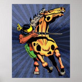 Apache Trail #1, Native American on Horseback Poster