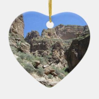 Apache Trail View Ceramic Ornament