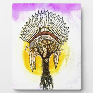 Apache Tree. Plaque