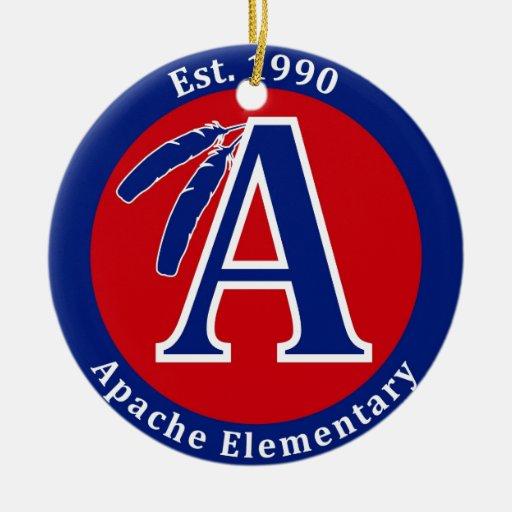Apache Warrior Elementary School Products Ceramic Ornament