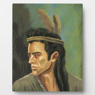 Apache Warrior Portrait Plaque