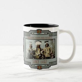 Apache Warriors Providing Homeland Security Two-Tone Coffee Mug