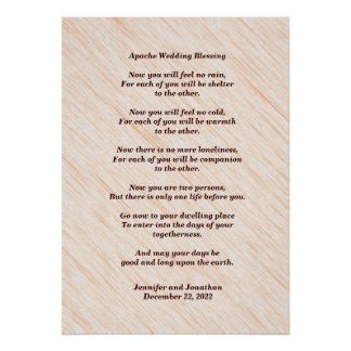 Apache Wedding Blessing 20x28 Matte Poster