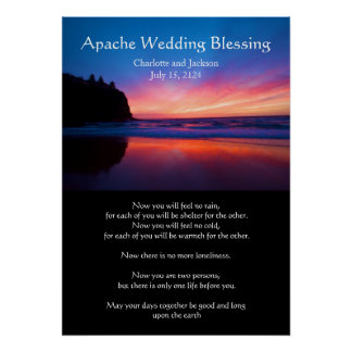 Apache Wedding Blessing Blue View Poster