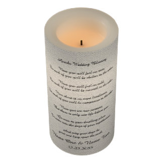 """Apache Wedding Blessing Candle Rustic Off White 6"""""""