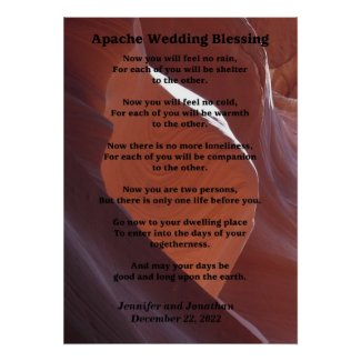 Apache Wedding Blessing Canyon Photo 20x28 Poster