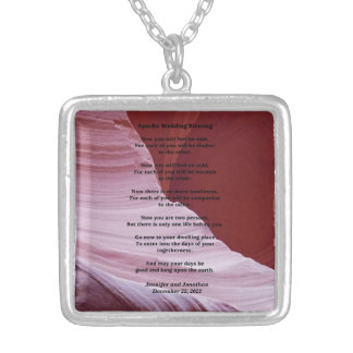 Apache Wedding Blessing Canyon Photo Necklace