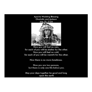 Apache Wedding Blessing Cheif Postcard