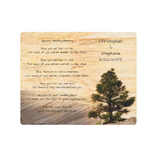Apache Wedding Blessing Light Brown Stone and Tree Metal Print