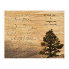 Apache Wedding Blessing Light Brown Stone and Tree Wood Wall Art