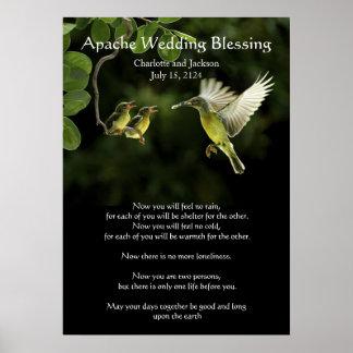 Apache Wedding Blessing Mother Hummingbird Poster