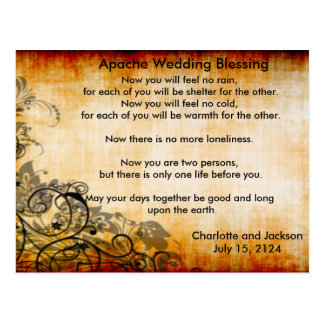 Apache Wedding Blessing Old Paper 2 Postcard