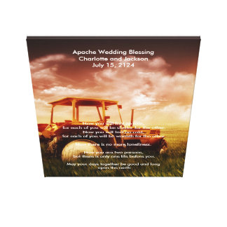 Apache Wedding Blessing Old Tractor Canvas Print