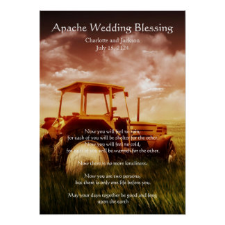 Apache Wedding Blessing Old Tractor Poster